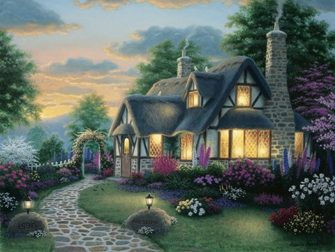 Austin Cottage Fine Art Print By Richard Burns At
