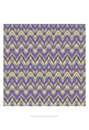 Framed Chevron Waves IV Print
