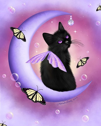 Daybreak Moon Pearls Fine Art Print By Melissa Dawn At