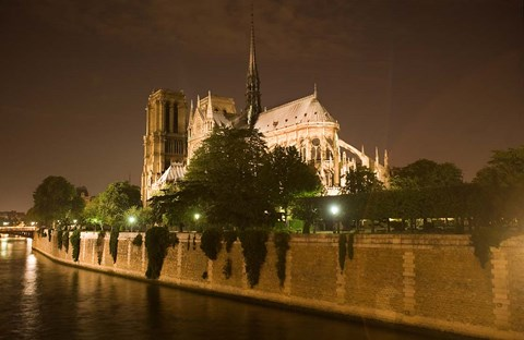 Framed Notre Dame at Twilight Print