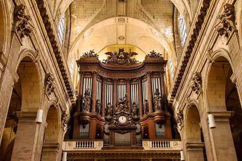 Framed Pipe Organ in Eglise Saint Sulpice Print