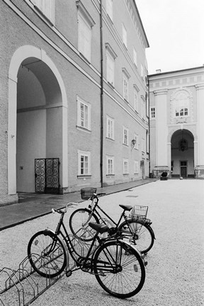 Framed Bicycles in the Domplatz Print