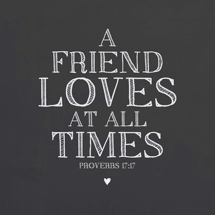 A Friend Loves At All Times Fine Art Print By Scott Orr At