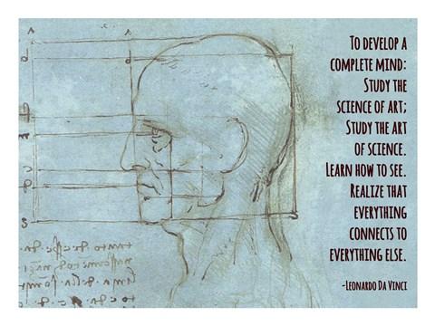 To Develop A Complete Mind Da Vinci Quote Fine Art Print By Quote