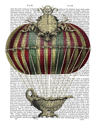 Framed Baroque Fantasy Balloon 3 Print
