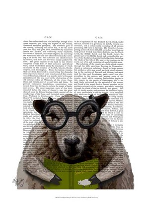 Framed Intelligent Sheep Print