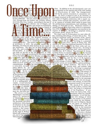 Framed Once Upon A Time Books Print