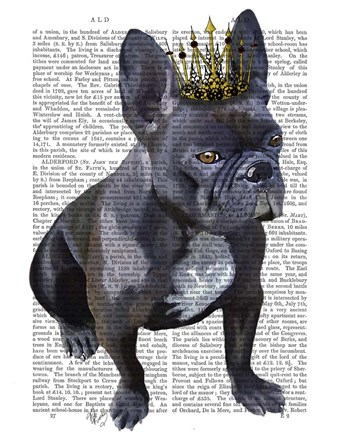 Framed French Bulldog King Print