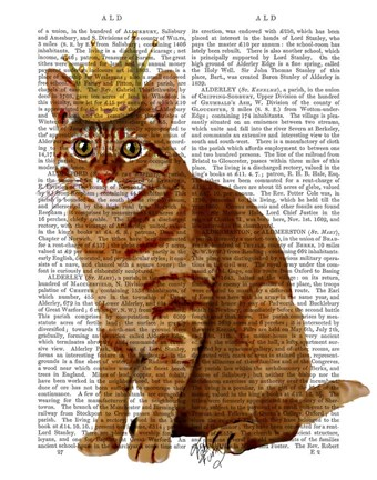 Framed Ginger Cat with Crown Full Print