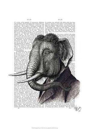 Elephant Portrait Fine Art Print by Fab Funky at FulcrumGallery.com