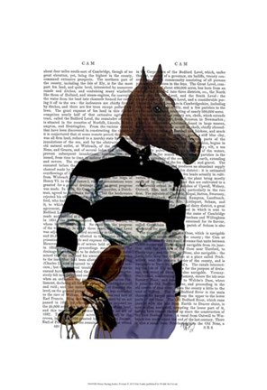 Framed Horse Racing Jockey Portrait Print