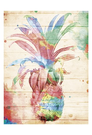 Framed Colorful Pineapple Print