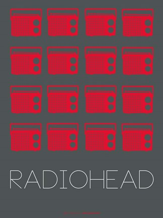 Framed Radiohead Red Print