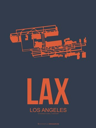 Framed LAX Los Angeles 3 Print