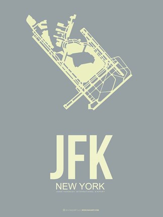 Framed JFK New York 1 Print