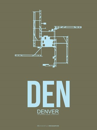Framed DEN Denver  3 Print