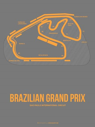 Framed Brazilian Grand Prix 1 Print