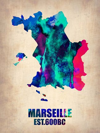 Framed Marseille Watercolor Print