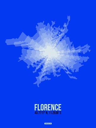 Framed Florence Radiant Map 4 Print