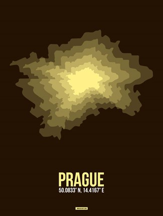 Framed Prague Radiant Map 1 Print