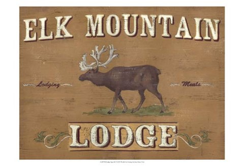 Framed Lodge Sign III Print