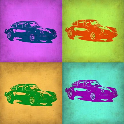 Framed Porsche Pop Art 1 Print