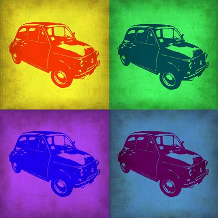 Framed Fiat 500 Pop Art 1 Print
