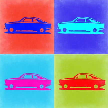 Framed Alfa Romeo Gulia Pop Art 2 Print