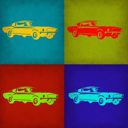 Framed Ford Mustang Pop Art 1 Print