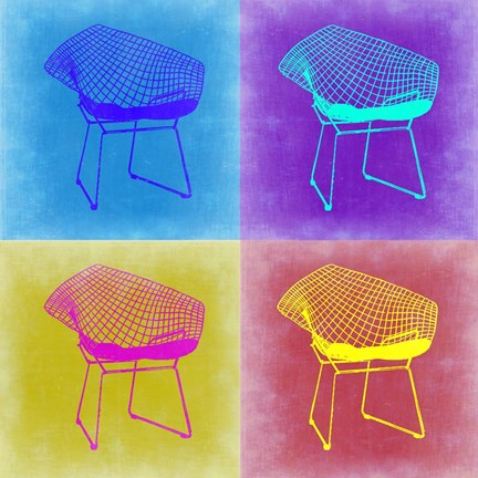 Framed Brickel Chair Pop Art 2 Print