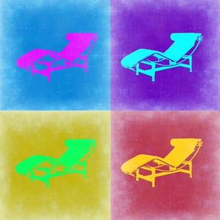 Framed Lounge Chair Pop Art 2 Print