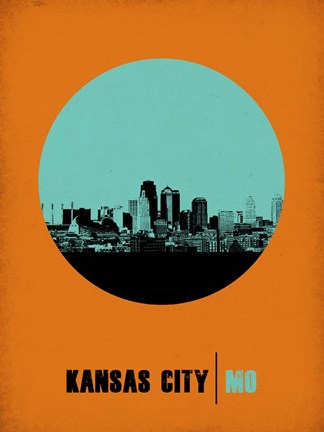 Framed Kansas City Circle 1 Print