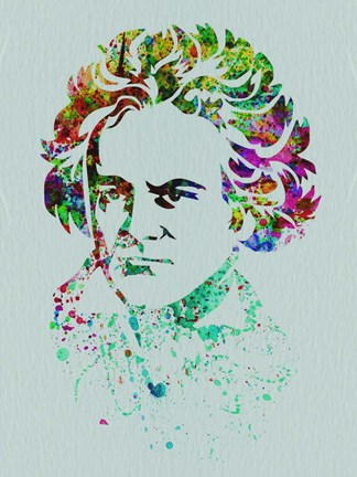 Framed Beethoven Watercolor Print