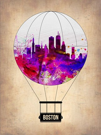 Framed Boston Air Balloon Print