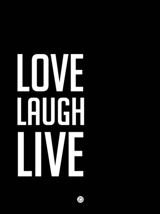 Framed Love Laugh Live Black Print