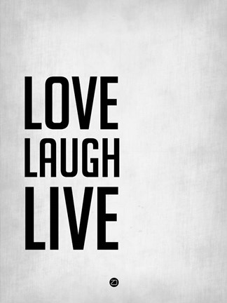 Framed Love Laugh Live Grey Print