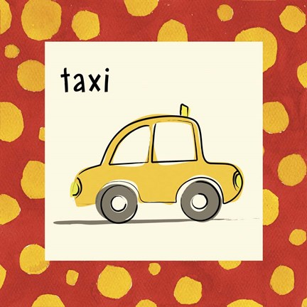 Framed Taxi with Border Print