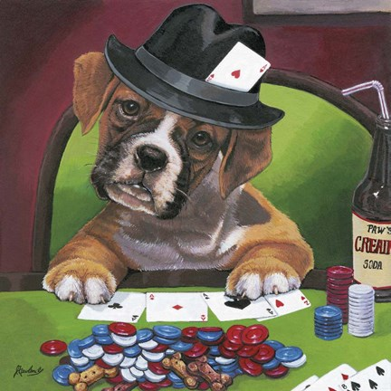 Framed Poker Dogs 2 Print