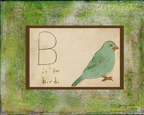Framed B is For Bird Print