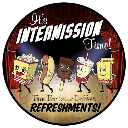 Framed Intermission Refreshments Print