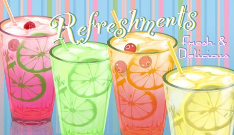 Framed Refreshments Print