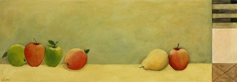 Framed Apples and Pears II Print