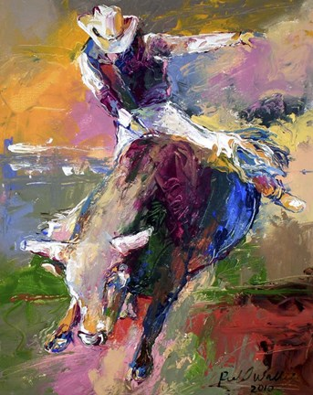 Bull Rider Fine Art Print By Richard Wallich At