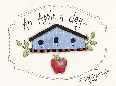 Framed Apple A Day... Print