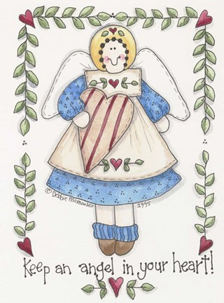 Framed Angel In Your Heart Print