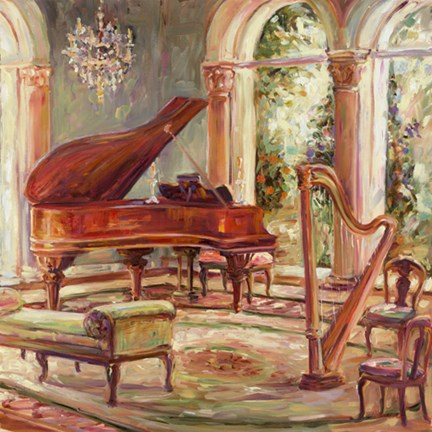 Framed Music Room II Print