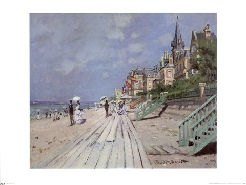 Framed Beach At Trouville Print