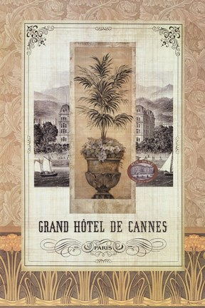 Framed Grand Hotel De Cannes Print