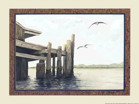 Framed Dock On The Bay Print