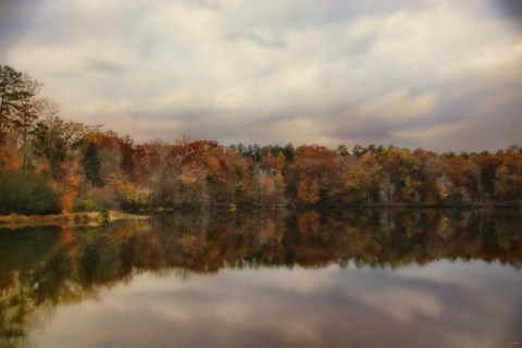 Framed Autumn At Lake LaJoie 1 Print